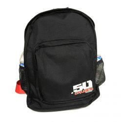 50 Caliber Racing Backpack with Padded 5 Point Safety Harness Style Straps - Drink Holders on both sides