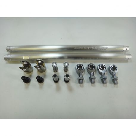 RZR Turbo S Heavy Duty Tie Rods - Raw Aluminum Complete Kit