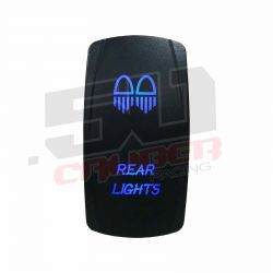 """Illuminated 50 Caliber Racing On/Off Rocker Switch with laser etched design - """"Dual Rear Lights"""""""