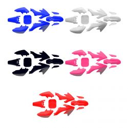 Honda CRF50 Replacement Plastic Kit Available in White Black Blue Red and Pink