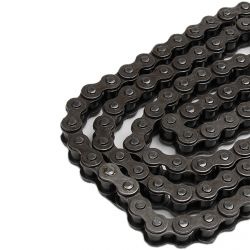 50 Caliber Racing 120 Link Pit Bike Chain for 420 Size sprocket. Longer length for bikes with extended swingarm