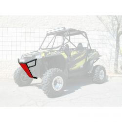 50 Caliber Racing RZR Front Bumper - Black Powdercoat frame with White Aluminum Skidplate and Light Bar Tabs