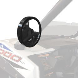 """5 inch CNC Billet Aluminum mirrors for 2"""" round tubing"""