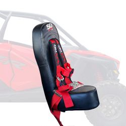 RZR PRO XP 4 Rear Bump Seat & RED 4 Point Safety Harness