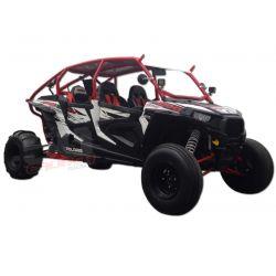 Custom Radius Roll Cage DOM Tubing with Aluminum Roof for 4 Seat Polaris RZR 4 XP1000